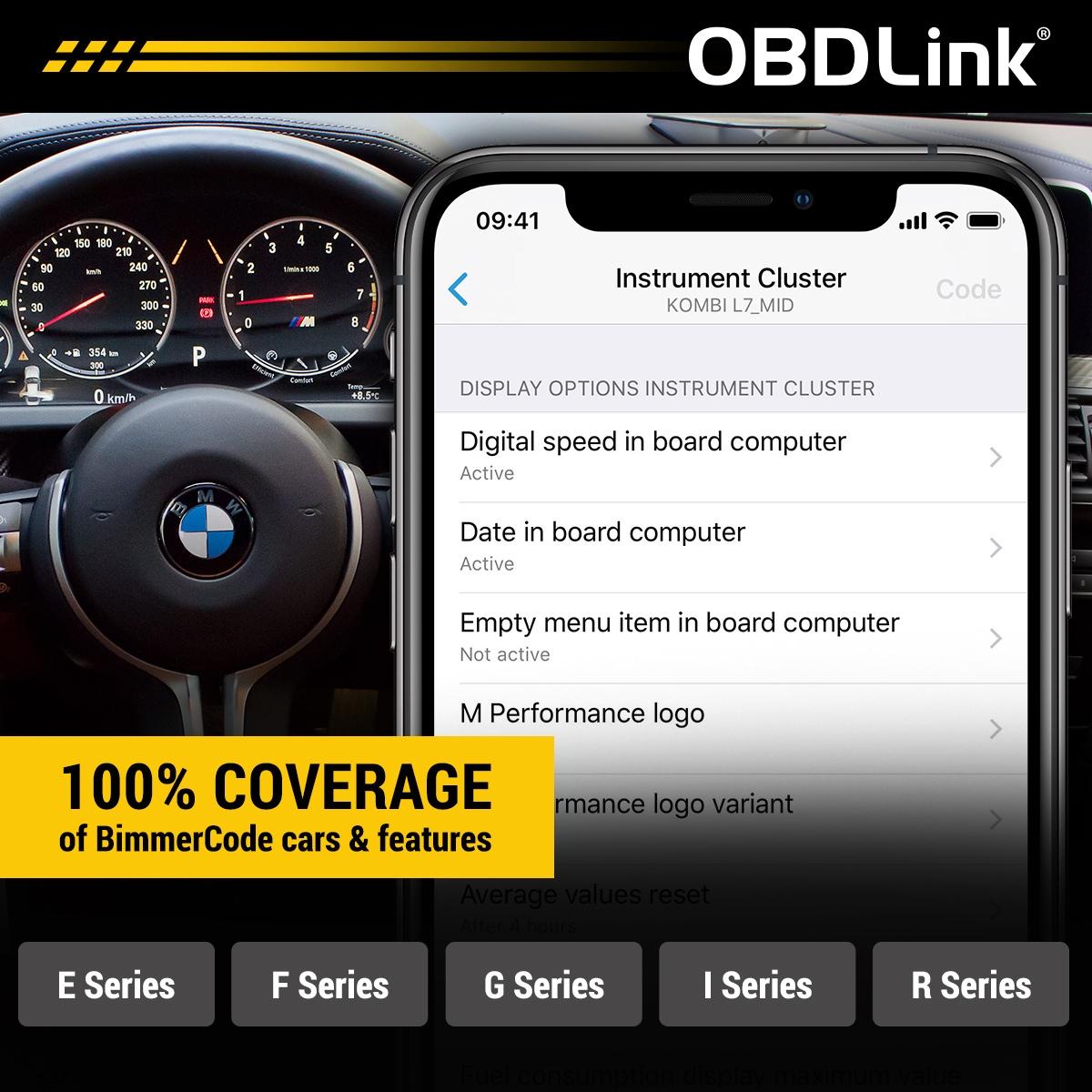 OBDLink CX voertuigdekking
