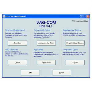 VCDS hoofdscherm