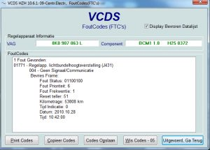 Vcds scan 1