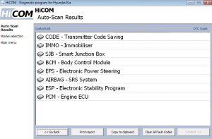 Hicom auto scan
