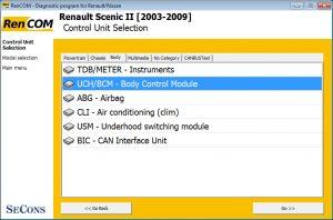 Renault modules rencom