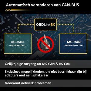 OBD Link EX CAN BUS schakelen