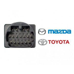 Mazda Toyota 17 pin OBD1 OBD2 verloopkabel